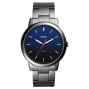 FOSSIL Minimalist 薄型簡約手錶 藍x鐵灰 44mm FS5377