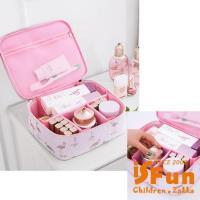 iSFun 立體鋪棉 動物盥洗化妝箱包 丹頂鶴