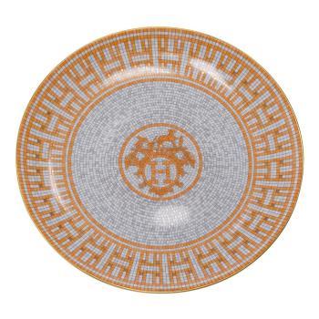 HERMES 愛馬仕 Mosaique au 24經典H LOGO圖騰馬賽克骨磁盤(小-橘)