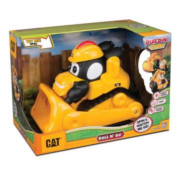【 CAT - 玩具車 】5.5 吋可愛聲光自動工程 - 推土機