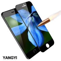 YANGYI 揚邑-Apple iPhone 6/6s Plus 5.5吋 滿版軟邊鋼化玻璃膜3D曲面防爆抗刮保護貼-黑