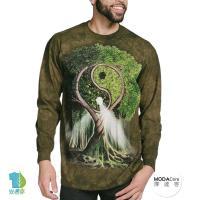 『摩達客』(預購)美國進口The Mountain  陰陽村 純棉長袖T恤