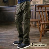 【Dreamming】極限動力純色伸縮休閒工作長褲(軍綠)