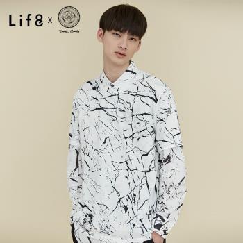 Life8 x Daniel Wong。黑白石紋圓領上衣-MIT NO. 03642