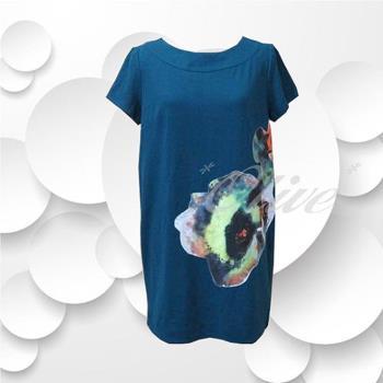 CHENG DA 秋冬專櫃精品女裝時尚流行短袖上衣 NO.589113藍-,