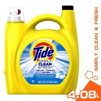 美國 Tide 汰漬 濃縮洗衣精 清新微風 4.08L