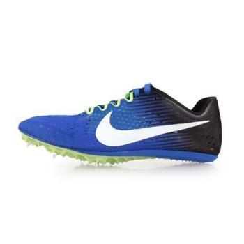 NIKE ZOOM VICTORY 3 男女田徑釘鞋-長距離 附鞋袋 競賽 藍黑
