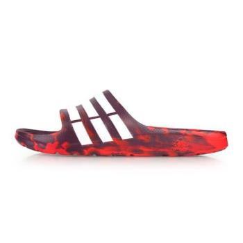 ADIDAS 男運動拖鞋-海邊 海灘 沙灘 戲水 訓練 愛迪達 紅白