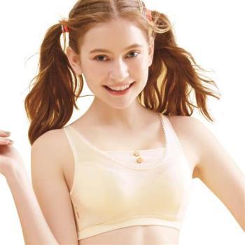 【思薇爾】竹蜻蜓輕甜風系列B-E罩軟鋼圈背心式素面包覆內衣(香草奶)