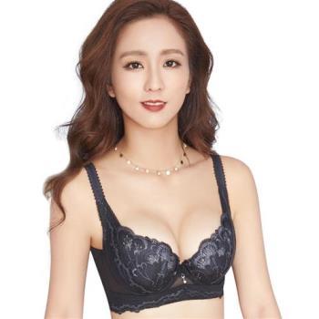 【思薇爾】羽戀之迷Ⅱ系列C-F罩蕾絲刺繡背心式內衣(黑色)