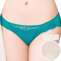 任-【思薇爾】撩波系列M-XXL蕾絲低腰三角內褲(珍貝膚)