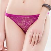 【思薇爾】花妍秘戀系列M-XL蕾絲低腰三角內褲(亮桃紫)