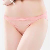 【思薇爾】花妍秘戀系列M-XL蕾絲低腰三角內褲(火鶴粉)