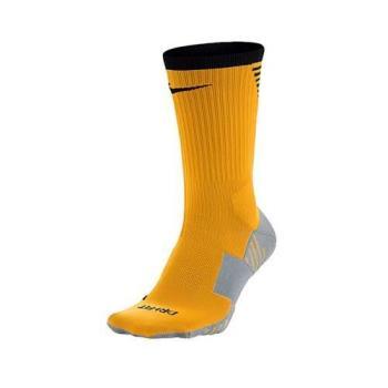 NIKE 男女足球襪-長襪 襪子 橘灰