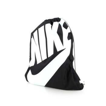 NIKE 束口袋-後背包 雙肩包 鞋袋 黑白