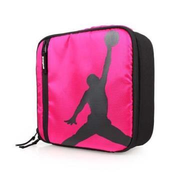 NIKE JORDAN 野餐包-飛人喬丹 露營 戶外 旅行 保溫 保冷 手提袋 桃紅黑