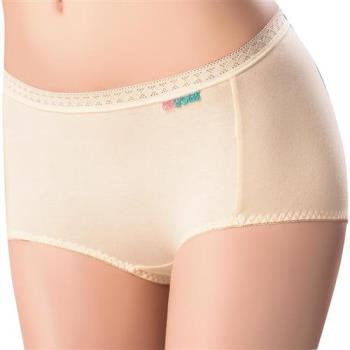 【思薇爾】柔感棉系列素面中低腰平口褲(柔粉黃)