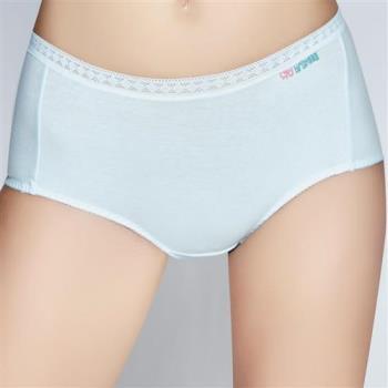 【思薇爾】柔感棉系列素面中低腰平口褲(潔淨藍)