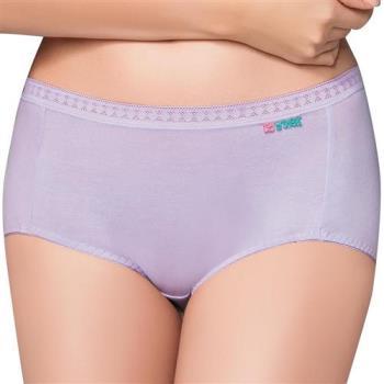 【思薇爾】柔感棉系列素面中低腰平口褲(花香紫)