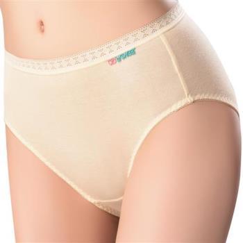 【思薇爾】柔感棉系列素面中腰三角褲(柔粉黃)