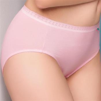 【思薇爾】柔感棉系列素面中腰三角褲(嫣紅)