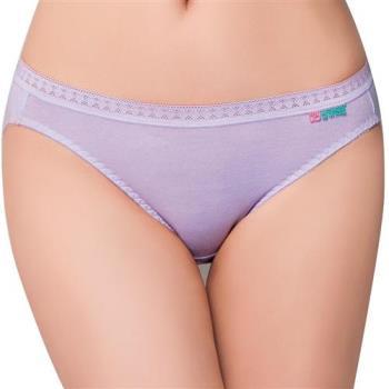 【思薇爾】柔感棉系列素面低腰三角褲(花香紫)