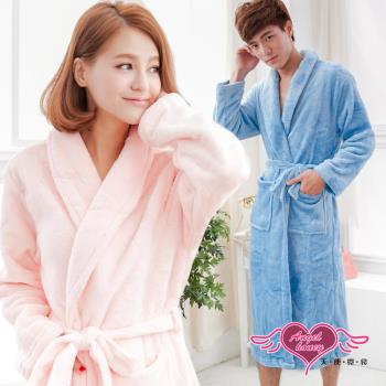 天使霓裳 浪漫純粹 甜蜜滿分情侶款珊瑚絨睡袍(淺藍粉F) AB11913