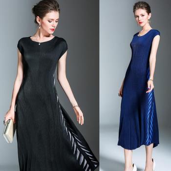 糖潮 氣質優雅修身壓摺魚尾連身裙(共二色)