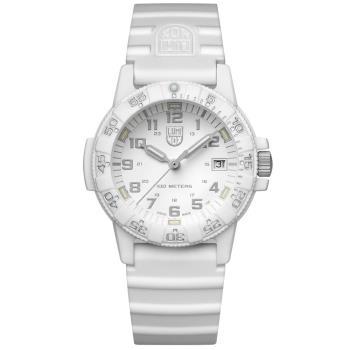 LUMINOX 雷明時SEA TURTLE 0300海龜系列腕錶-白x灰時標/39mm A0307.WO