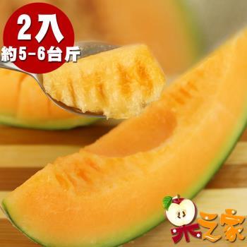 果之家 七股超甜爆汁紅肉哈密瓜2顆/盒(約1.5kg±5%/顆)