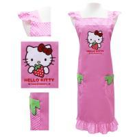 Hello Kitty粉紅色草莓荷葉袖圍裙KT-0906B