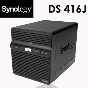 Synology 群暉科技 DS416j 4Bay 網路儲存伺服器NAS (硬碟需加購)