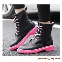 [ALMANDO-SHOES] 秋季新款英倫風真皮馬丁靴/女性休閒靴(小-大尺碼)