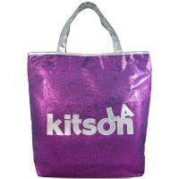 Kitson LA 紫色亮片皮革品牌標大托特肩包