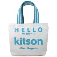 Hello Kitson 帆布手提包(藍,小)