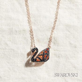 SWAROVSKI 施華洛世奇 Facet Swan 幾何黑天鵝項鏈