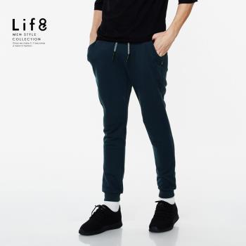 Life8-Casual 經典棉質 彈力腰頭大絨縮口褲 NO. 02440