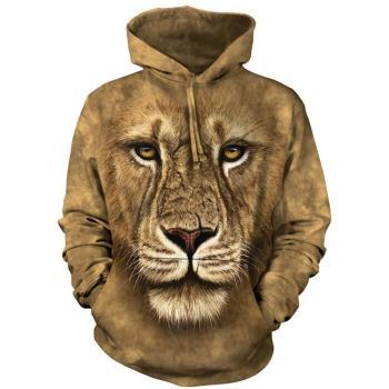 【摩達客】 美國進口 The Mountain 獅勇士 長袖連帽T恤