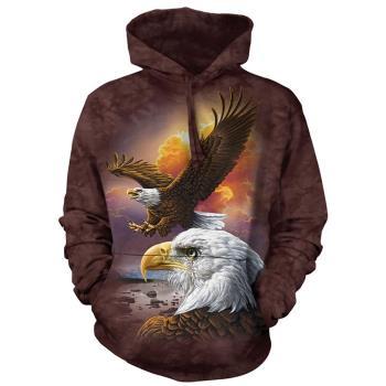 【摩達客】 美國進口 The Mountain 鷹與雲 長袖連帽T恤