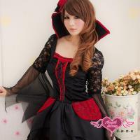 天使霓裳 城堡惡魔巫女 吸血鬼裝角色扮演(黑F) S8543