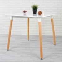 Homelike 喬米北歐風餐桌(亮麗白)