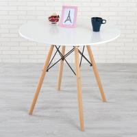 Homelike 亞伯造型圓桌(亮麗白)