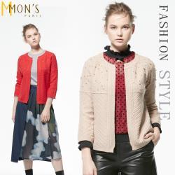 MONS名媛閃耀縫鑽針織外套