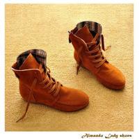 [ALMANDO-SHOES] 秋冬新款繫帶羅馬靴/短靴(共4色)