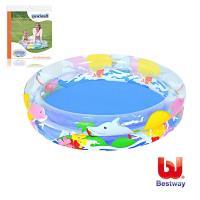 哈街 Bestway 兒童透明海洋生活充氣水池