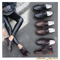 [ALMANDO-SHOES] 秋冬新款漆皮復古休閒鞋/休閒短靴