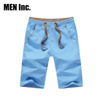 Men Inc.「陽光型男」韓星休閒短褲 (淺藍色)
