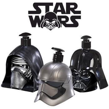 STAR WARS 普拉斯馬隊長+基羅+黑武士 3D珍藏限量版公仔 二合一沐浴洗髮精 500ml