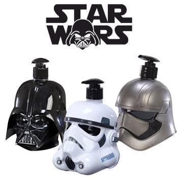 STAR WARS 帝國風暴兵+普拉斯馬隊長+黑武士 3D珍藏限量版公仔 二合一沐浴洗髮精 500ml