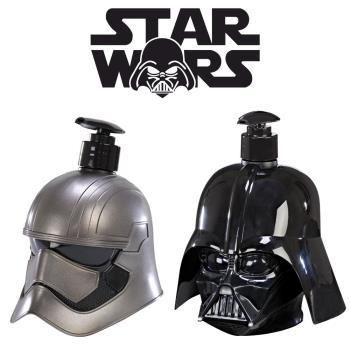 STAR WARS PHASMA 普拉斯馬隊長+DARTH VADER 黑武士 3D珍藏限量版公仔 二合一沐浴洗髮精 500ml